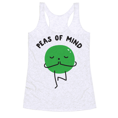 Peas Of Mind Racerback Tank Top