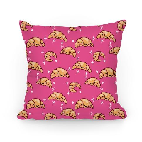 Kawaii Croissant Pattern Pillow