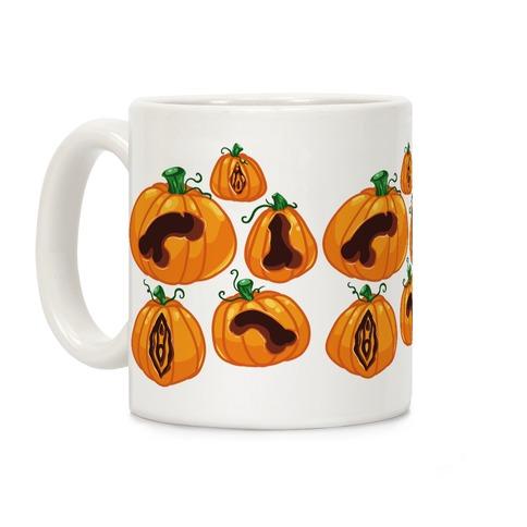 Genital Jack-O-Lanterns Pattern Coffee Mug