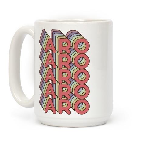 Aro Retro Rainbow Coffee Mug
