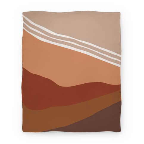 Terracotta Peach Sunset Blanket