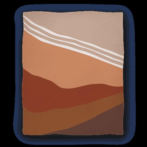 Terracotta Peach Sunset Blanket