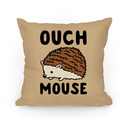 Ouch Mouse Hedgehog Parody Pillow