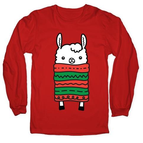 Long Llama Scarf Long Sleeve T-Shirt