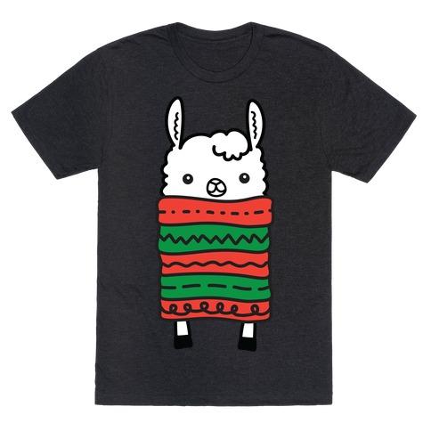 Long Llama Scarf T-Shirt