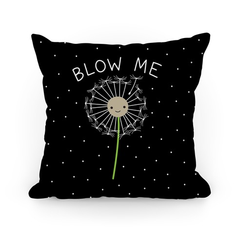 Blow Me Dandelion Pillow