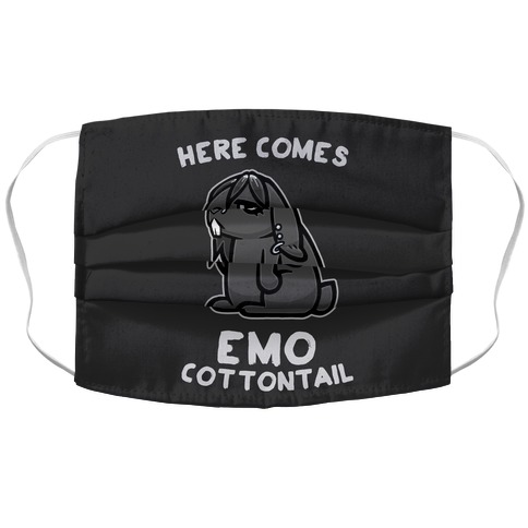 Here Comes Emo Cottontail Accordion Face Mask