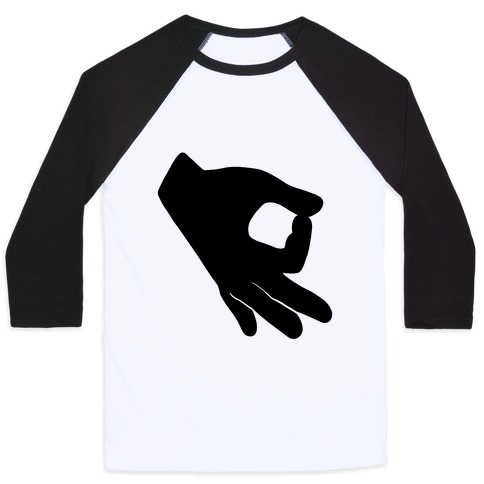 Finger Circle  Baseball Tee