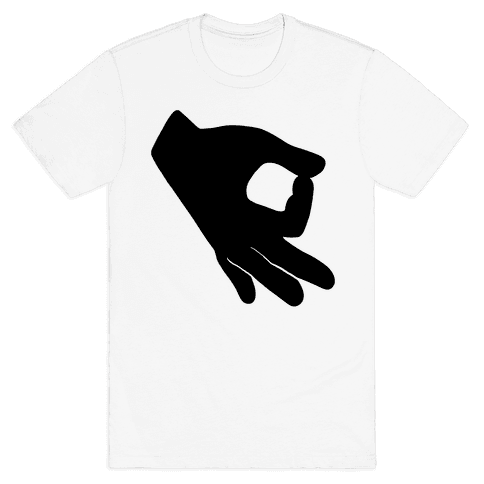 Finger Circle  Mens T-Shirt
