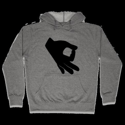 Finger Circle  Hooded Sweatshirt