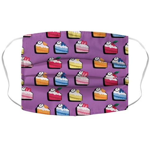 Fruit Cake Pattern Accordion Face Mask