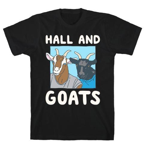 Hall And Goats Parody White Print T-Shirt