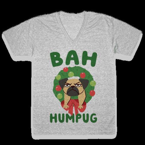 Bah Humpug V-Neck Tee Shirt