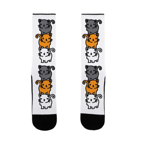 Kitty Stack Pattern Sock