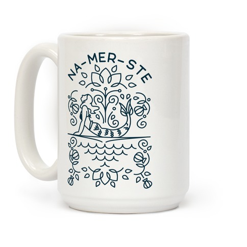 Na-Mer-Ste Mermaid Yoga Coffee Mug