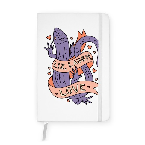 Liz, Laugh, Love (Lizard) Notebook