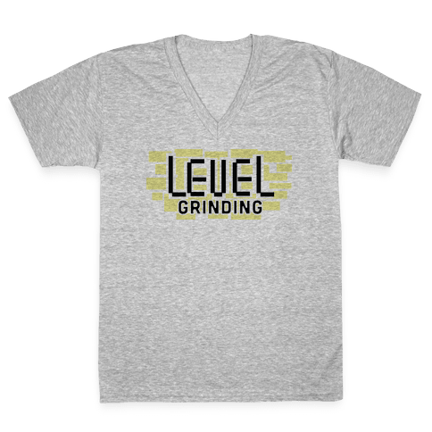 Level Grinding V-Neck Tee Shirt