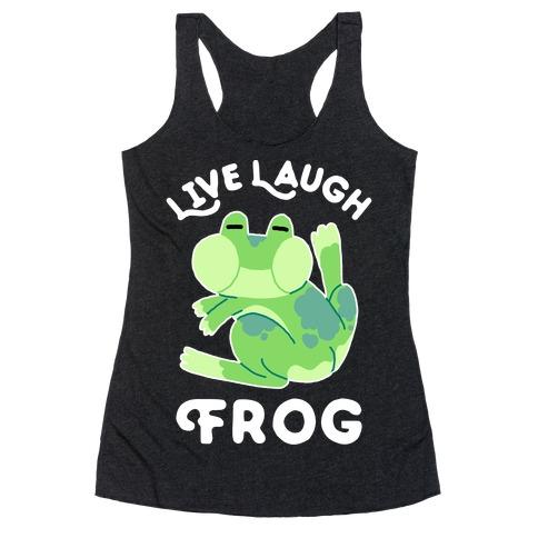 Live, Laugh, Frog Racerback Tank Top