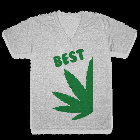 Best Buds Couples (Best) V-Neck Tee Shirt