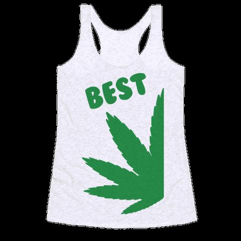 Best Buds Couples (Best) Racerback Tank Top