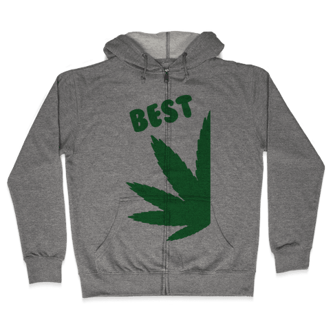 Best Buds Couples (Best) Zip Hoodie