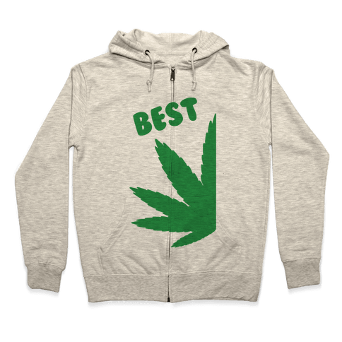 Best Buds Couples (Best) Zip Hoodie