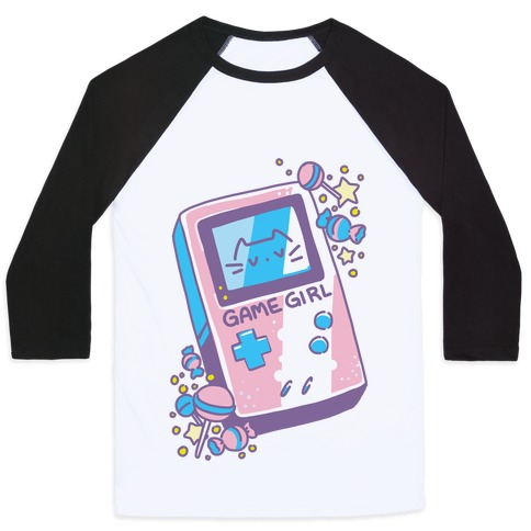 Game Girl - Trans Pride Baseball Tee