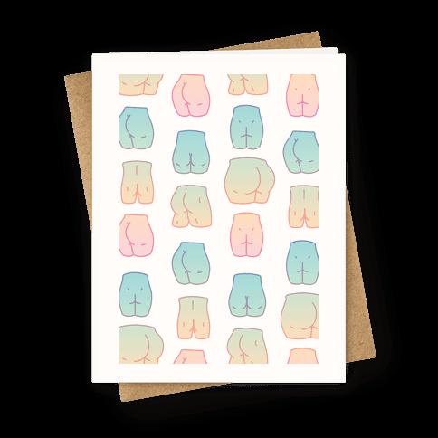 Kawaii Pastel Butt Pattern