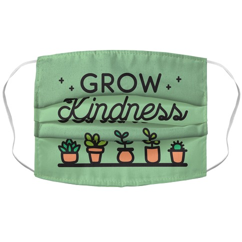 Grow Kindness Accordion Face Mask