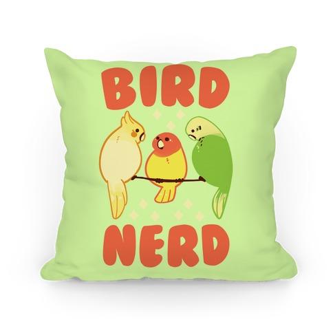 Bird Nerd Pillow