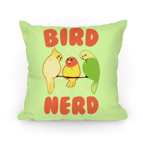 Bird Nerd Pillow