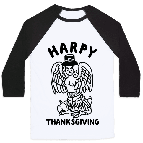 Harpy Thanksgiving Baseball Tee