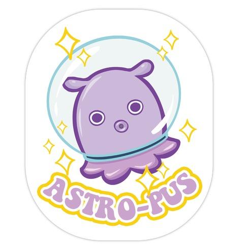 Astro-pus Die Cut Sticker