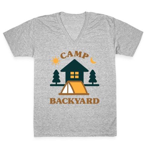 Camp Backyard V-Neck Tee Shirt