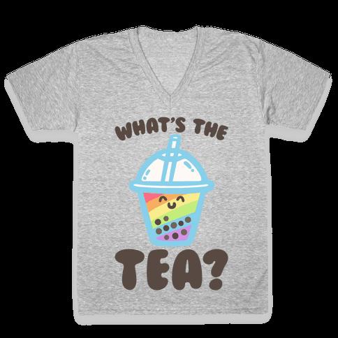 What's The Tea Bubble Tea V-Neck Tee Shirt