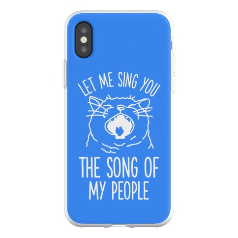 The Song Of My People Cat Phone Flexi-Case