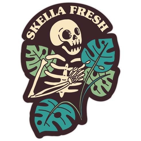Skella Fresh Plants Die Cut Sticker