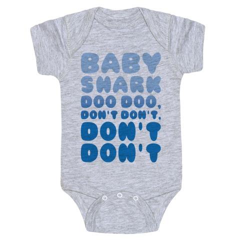 Don't Baby Shark Song Parody Baby Onesy