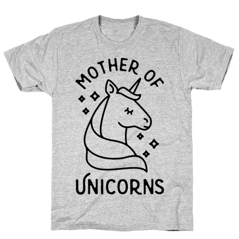 Mother Of Unicorns Mens T-Shirt