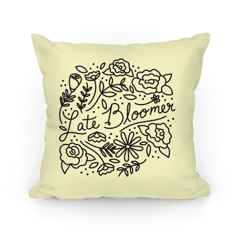 Late Bloomer Floral Pillow