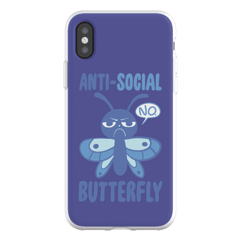 Anti-Social Butterfly Phone Flexi-Case