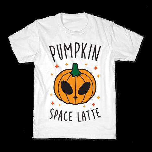 Pumpkin Space Latte Kids T-Shirt