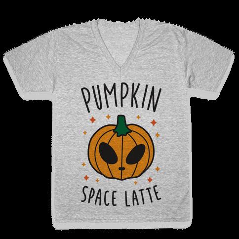 Pumpkin Space Latte V-Neck Tee Shirt