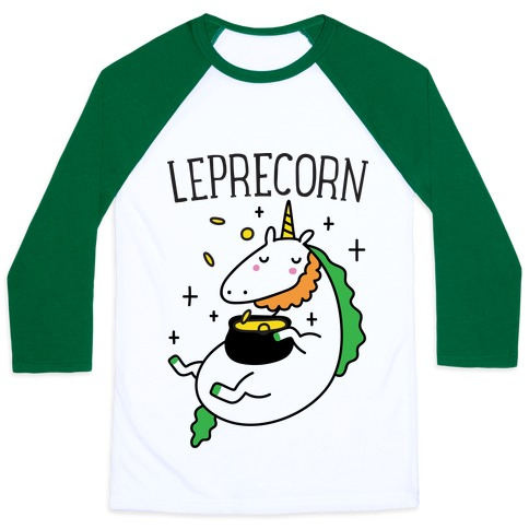 Leprecorn Unicorn Baseball Tee