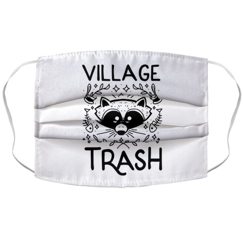 Village Trash Accordion Face Mask