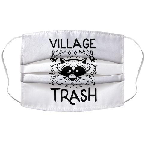 Village Trash Accordion Face Mask