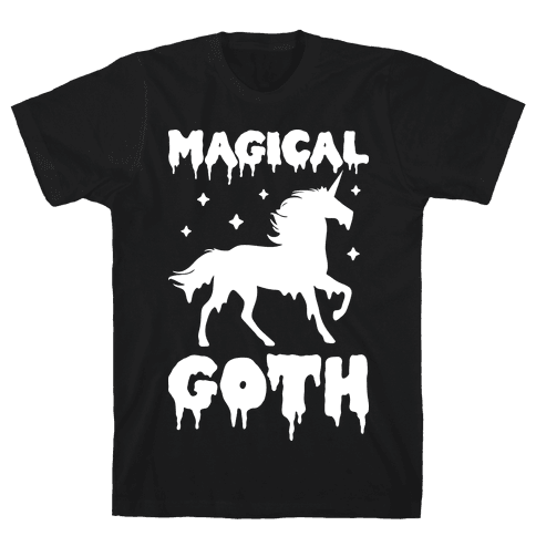Magical Goth Unicorn Mens T-Shirt