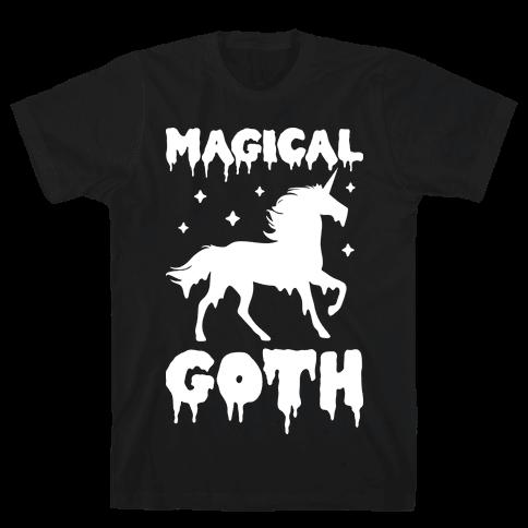 Magical Goth Unicorn Mens T-Shirt