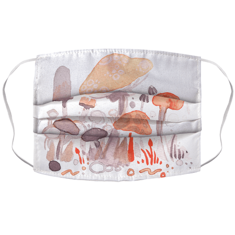 Mushroom Garden Pattern Face Mask Cover
