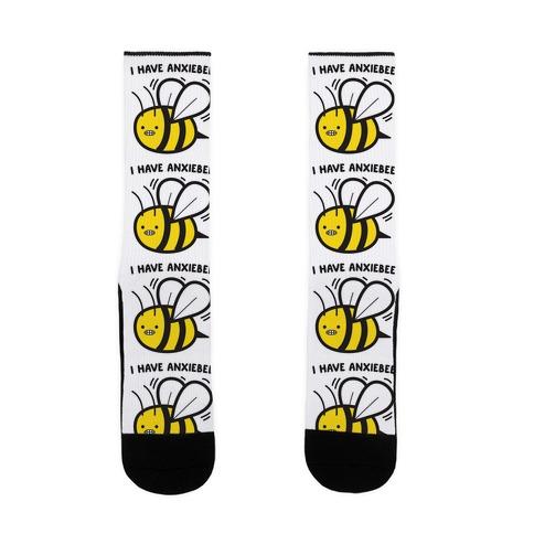 I Have Anxiebee Bee Sock